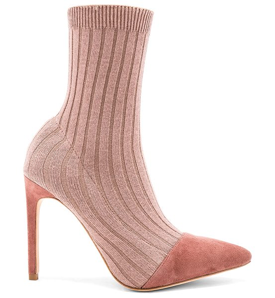 "RAYE Collins Sock Bootie in mauve - ""Stretch knit textile upper with leather sole. Pull on..."