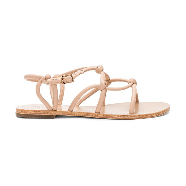 RAYE Danica Sandal in beige - Man made upper with leather sole. Ankle strap with...