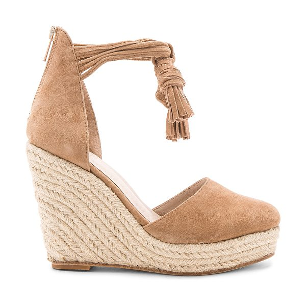 "RAYE Dixie Wedge - ""Charming tassel accents, sleek suede fabric, and chic..."