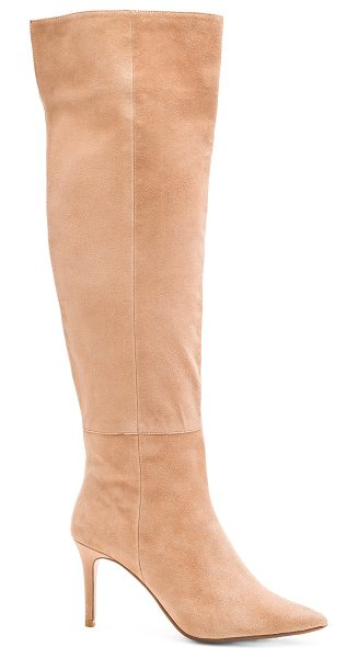 RAYE Drea boot in beige - Suede upper with man made sole. Side zip closure. Heel...