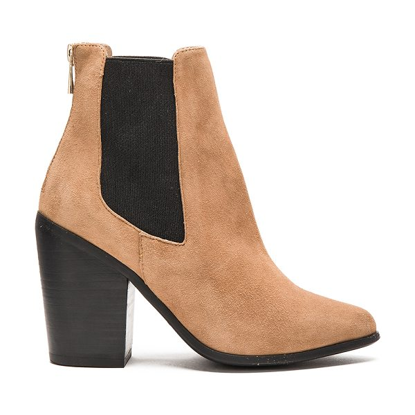 RAYE Evie bootie - Suede upper with rubber sole. Elastic side panels. Back...