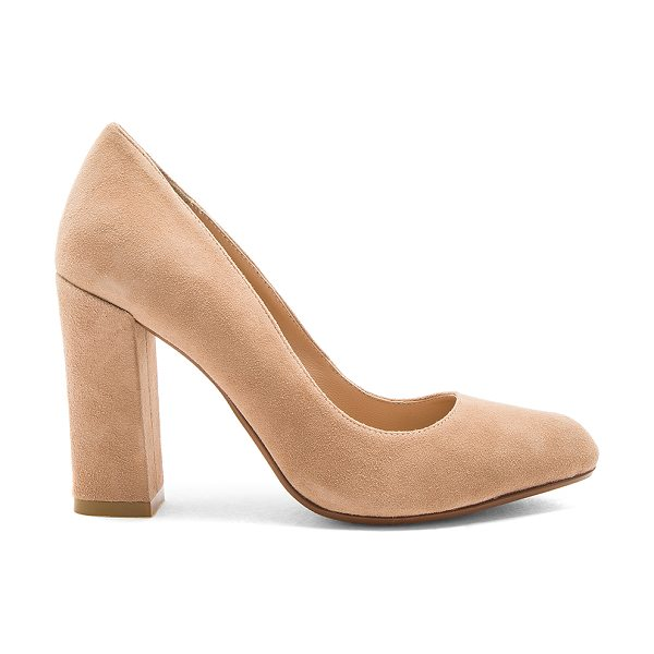 "RAYE Gwen Heel in tan - ""Think, closet staple. RAYE?s Gwen Heel features a..."