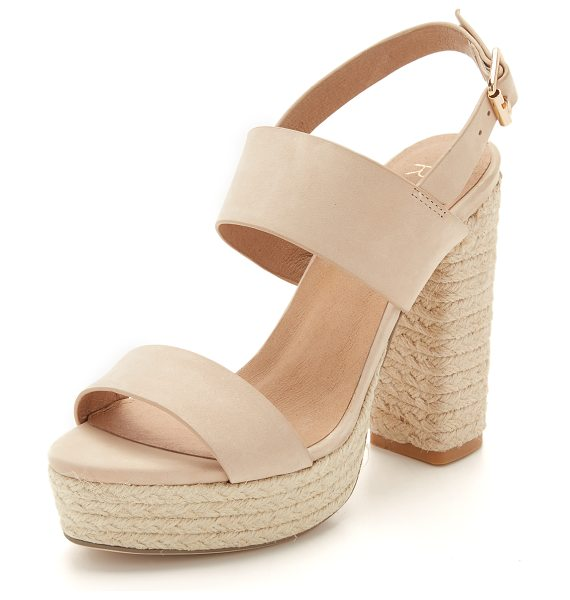 RAYE Halle platform sandals in nude