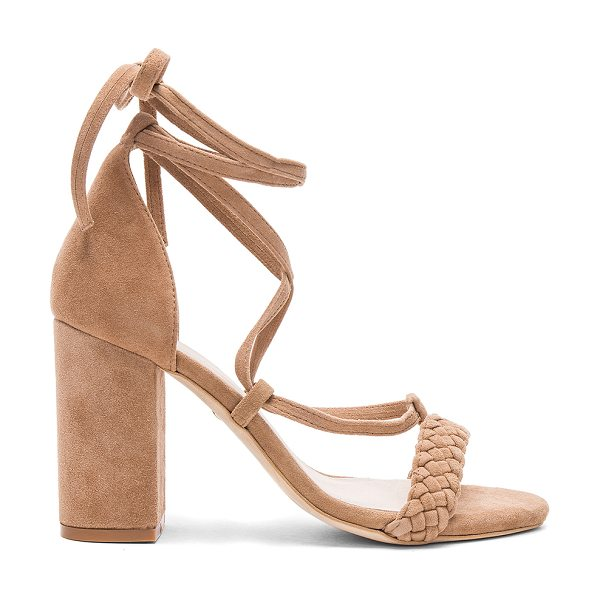 "RAYE Lulu Heel in tan - ""Designed in a smooth suede, The Lulu heel features a..."