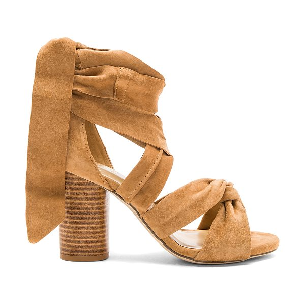 RAYE Myra Heel in tan - Straight up or with a twist. RAYE's Myra Heels features...