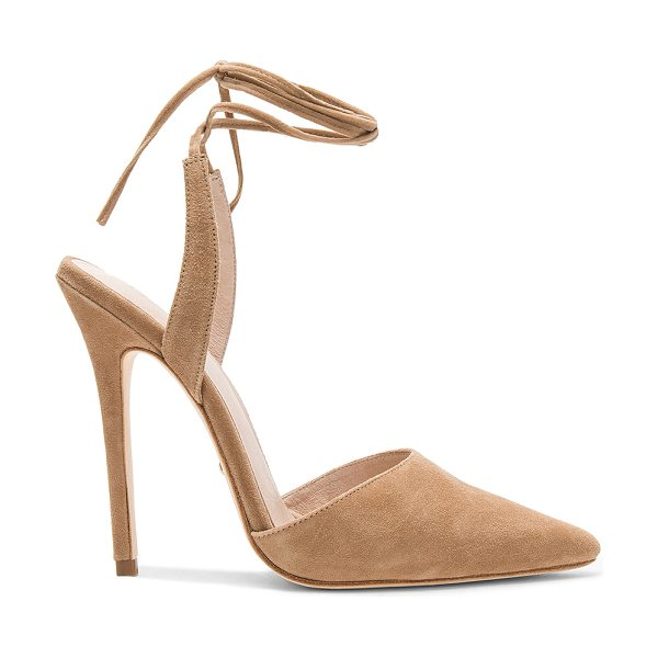 "RAYE Sawyer Heel - ""Suede upper with leather sole. Wrap ankle with tie..."