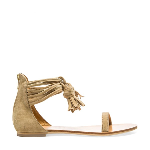 RAYE Skye Sandal in tan - Suede upper with man made sole. Wrap tie closure with...