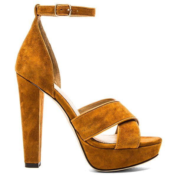 RAYE Su2c x revolve hedi platform in tan - Suede upper with man made sole. Heel measures approx...