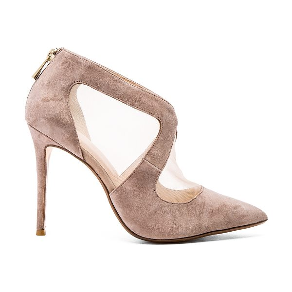 RAYE Tabitha pump in taupe - Mesh and suede upper with man made sole. Back zip...