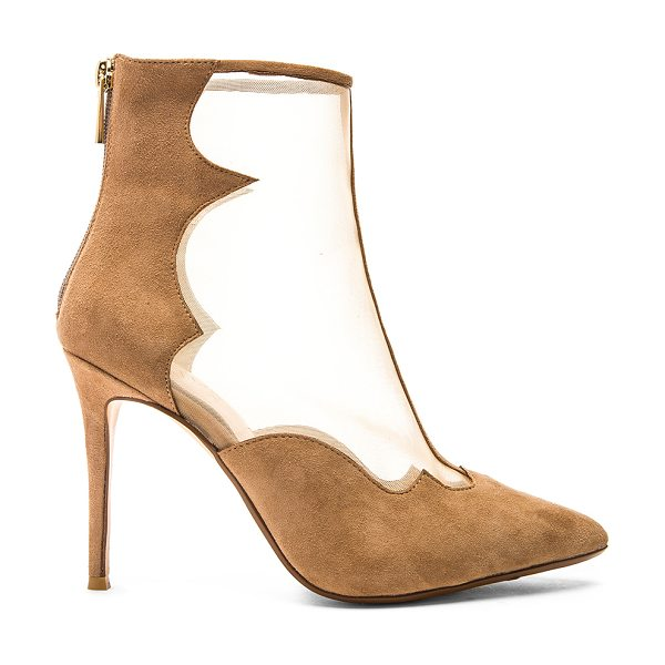 RAYE Taite bootie in tan - Mesh and suede upper with man made sole. Back zip...