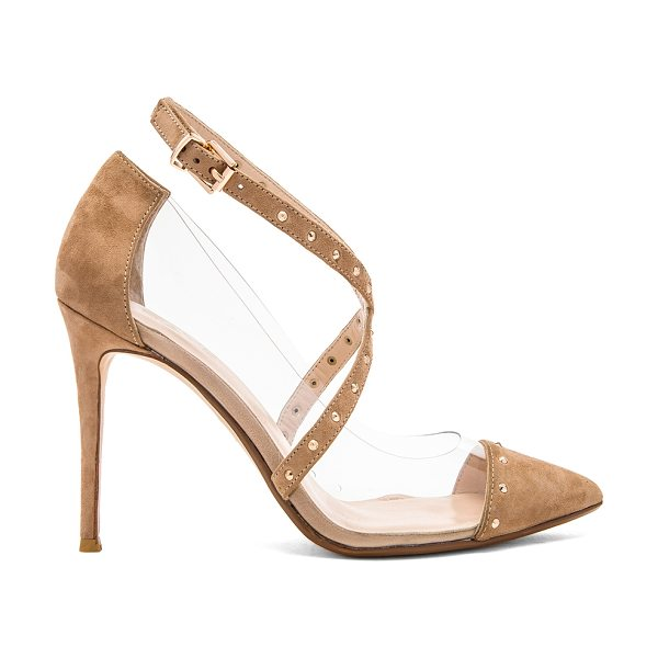 RAYE Tami heel in tan - Suede and vinyl upper with man made sole. Heel measures...