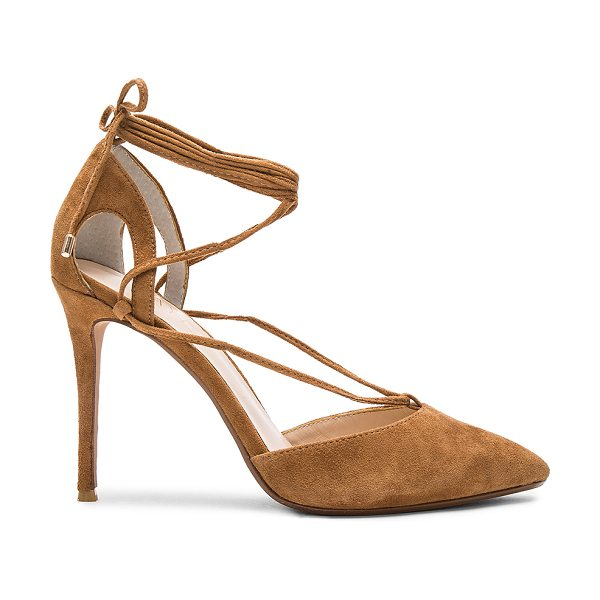 "RAYE Tamrin Pump in cognac - ""Classic pumps with a new lace-up detail define RAYE's..."