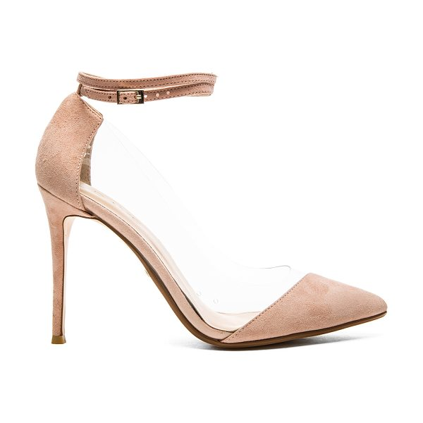 RAYE Tara heel in pink - Poly and suede upper with man made sole. Heel measures...