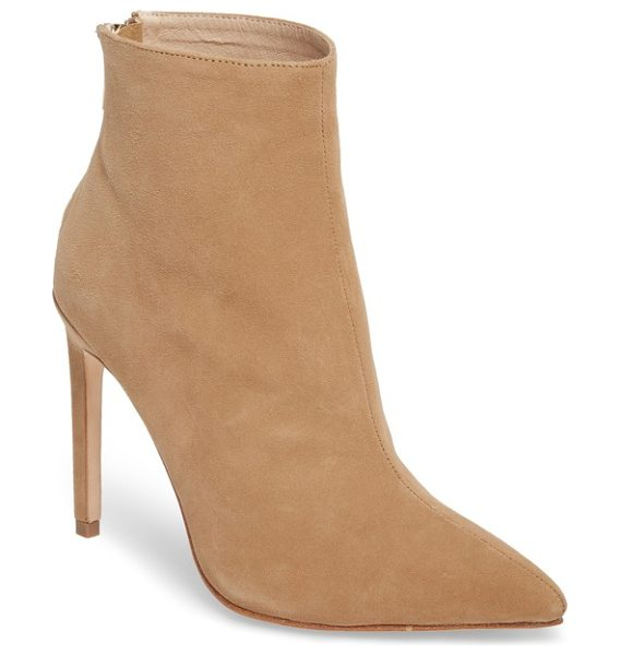 RAYE tati pointy toe bootie - A striking setback heel and contoured shaft add to the...