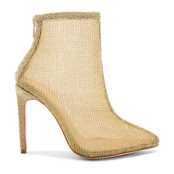 "RAYE Tatiana Bootie in gold - ""Metallic mesh textile upper with leather sole. Back zip..."