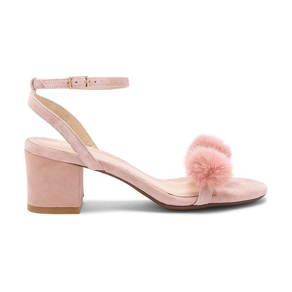 "RAYE Amara Mink Fur Sandal - ""Pom poms never looked so pretty. Welcome RAYE's Amara..."