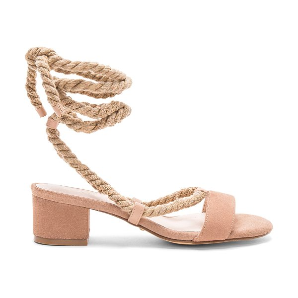 "RAYE x REVOLVE Soto Sandal in nude - ""A simple wrap detail, modest block heel, and smooth..."