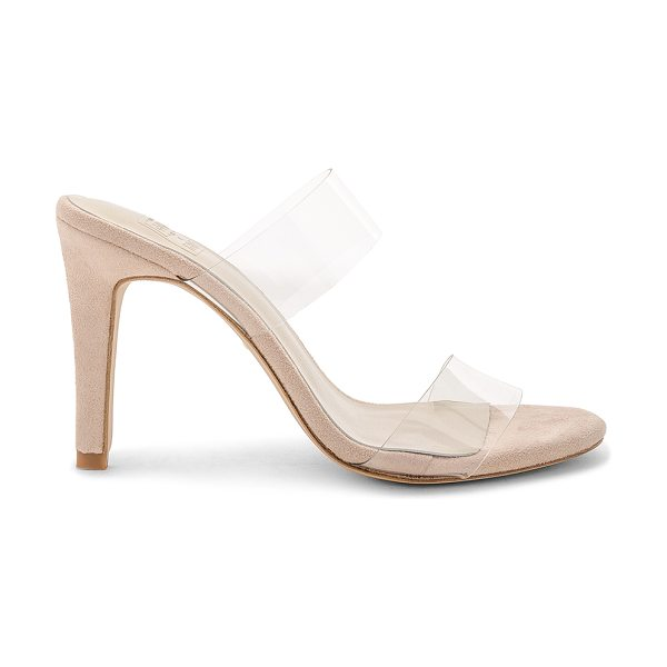 "RAYE x STONE_COLD_FOX Bacall Heel in beige - ""Clear vinyl upper with man made sole. Slip-on styling...."