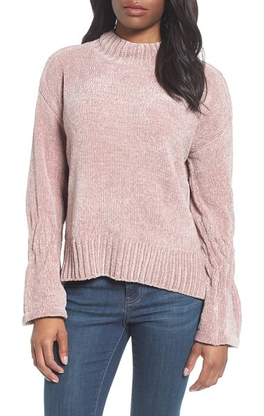 RDI bell cuff sweater in rose taupe - Right on point with this season's feminine sleeve...