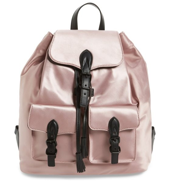 Rebecca Minkoff alice nylon backpack in dark vintage pink