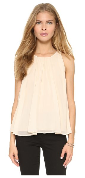 Rebecca Minkoff Alleen top in sand - Pleating brings graceful swing to this airy Rebecca...