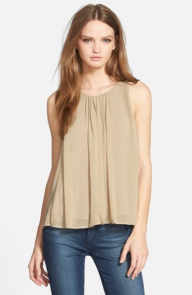 Rebecca Minkoff allen silk top in khaki