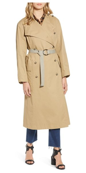 Rebecca Minkoff anderson cotton trench coat in brown