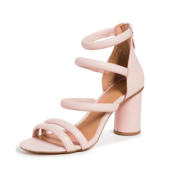 Rebecca Minkoff andree tubular sandals in pink - Leather: Cowhide Tube straps Strappy silhouette Chunky...