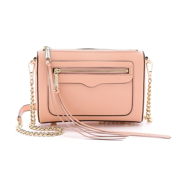Rebecca Minkoff Avery cross body bag in apricot - Saffiano leather constructs this chic Rebecca Minkoff...