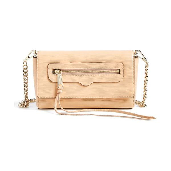Rebecca Minkoff Avery crossbody bag in apricot/ light gold
