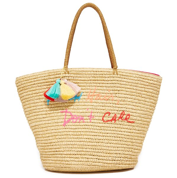 Rebecca Minkoff beach hair tote in natural - This roomy Rebecca Minkoff tote gains charm from...