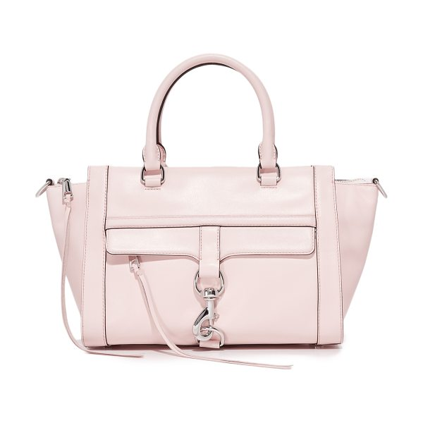 Rebecca Minkoff bowery satchel in soft blush - A roomy Rebecca Minkoff satchel with a polished spring...