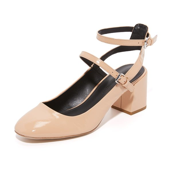 Rebecca Minkoff brooke mary jane pumps in nude - Rebecca Minkoff mary jane pumps made from crinkled...