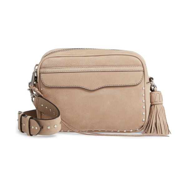 REBECCA MINKOFF bryn nubuck camera bag in sandstone nubuck/ silver hrdwr - Signature detailing familiar to Minkoff fans from the...