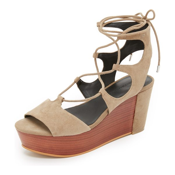 REBECCA MINKOFF Cady platform sandals - A stacked platform and covered heel give a unique update...