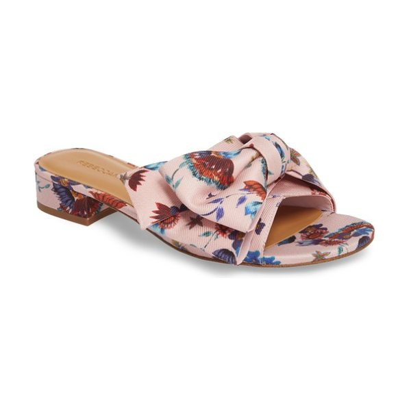 REBECCA MINKOFF calista slide sandal in millennial pink multi fabric - Bring a touch of springtime to your feet with this slide...