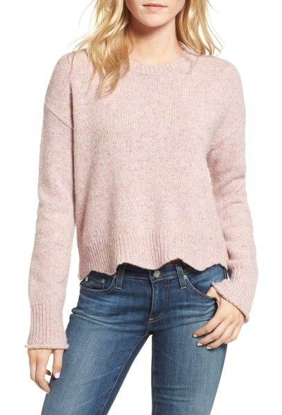 Rebecca Minkoff cecelia sweater in ice pink multi - This shaker-stitch sweater is knit from yarns so...