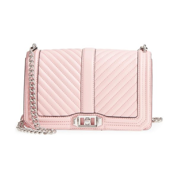 Rebecca Minkoff 'chevron quilted love' crossbody bag in peony - Immaculate chevron quilting puts a contemporary spin on...