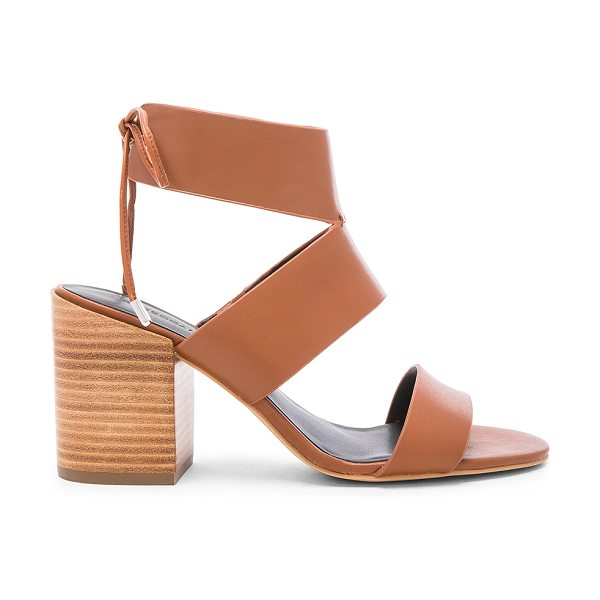 Rebecca Minkoff Christy heel in cognac - Leather upper with man made sole. Back tie closure. Heel...