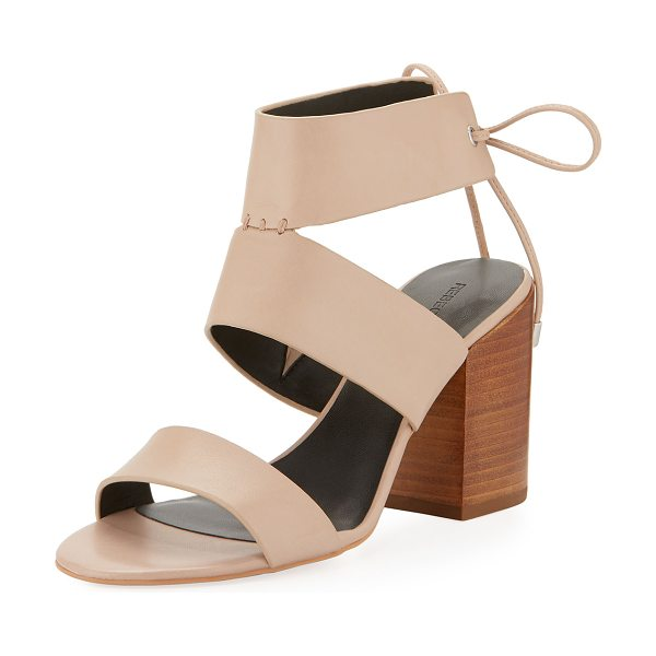 "REBECCA MINKOFF Christy Leather City Sandal in nude - Rebecca Minkoff vachetta leather city sandal. 3.3""..."