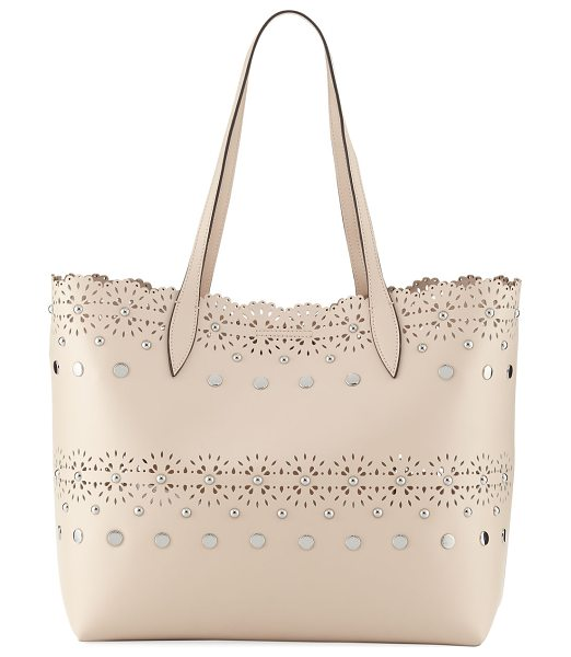 REBECCA MINKOFF Cutout Structured Leather Tote Bag - EXCLUSIVELY AT NEIMAN MARCUS (Nude only) Rebecca Minkoff...