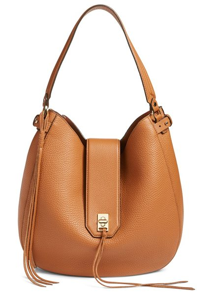 REBECCA MINKOFF 'darren' leather hobo bag - Crafted from soft pebbled leather, this wardrobe staple...