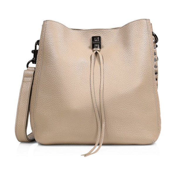 Rebecca Minkoff darren leather hobo bag in sand