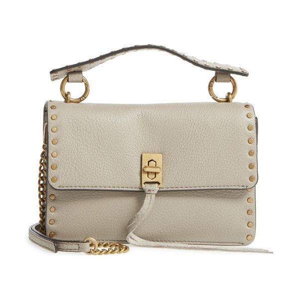Rebecca Minkoff darren top handle crossbody bag in taupe
