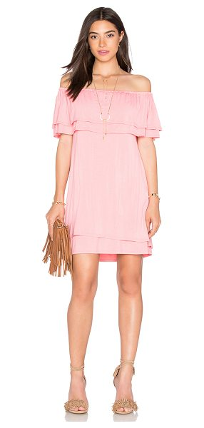 Rebecca Minkoff Dev Dress in pink - 92% micro modal 8% spandex. Unlined. Elasticized...