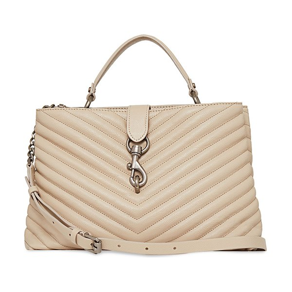 Rebecca Minkoff Edie Quilted Large Top-Handle Tote Bag in cashmere