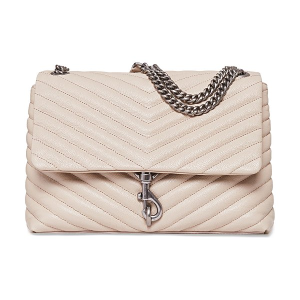 Rebecca Minkoff Edie Quilted Leather Flap Shoulder Bag in cashmere