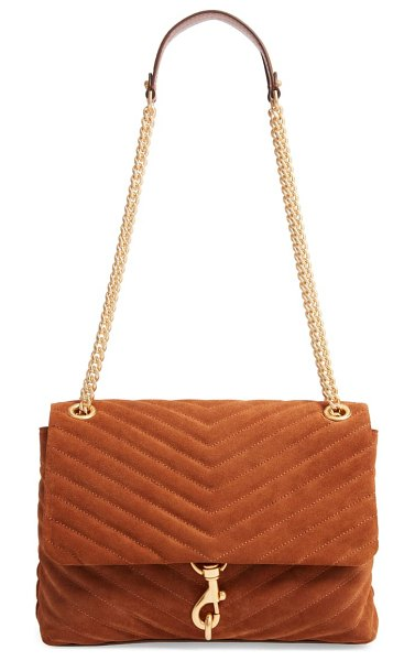 Rebecca Minkoff edie quilted leather shoulder bag in brown