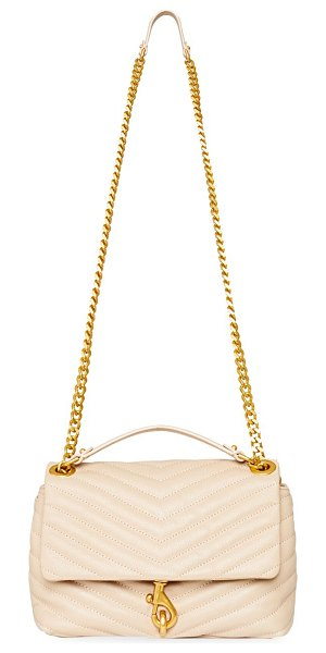 Rebecca Minkoff edie quilted leather shoulder bag in cashmere