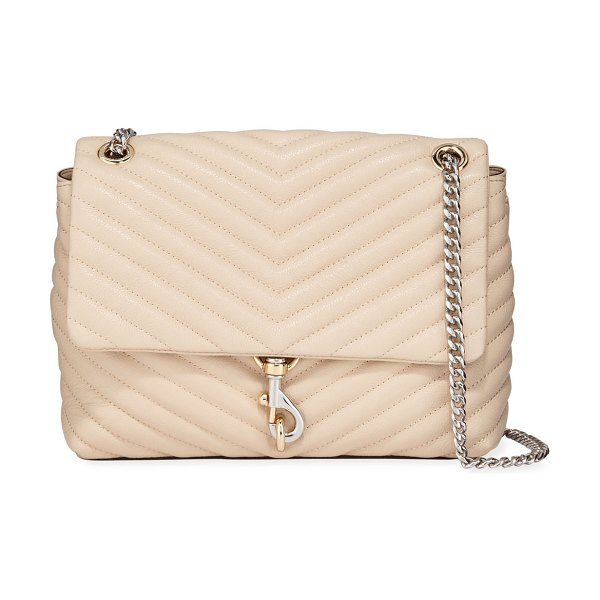 Rebecca Minkoff Edie Quilted Leather Shoulder Bag in clay